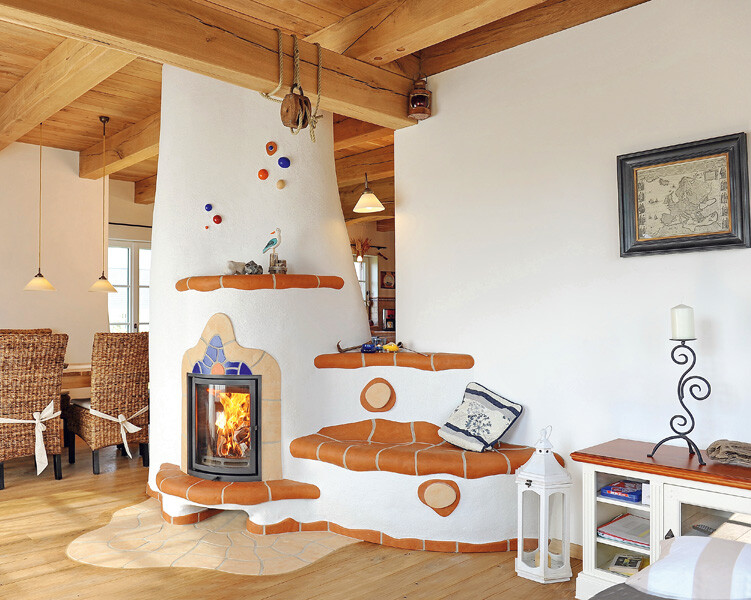 Clay heaters and fireplaces for fairytales houses