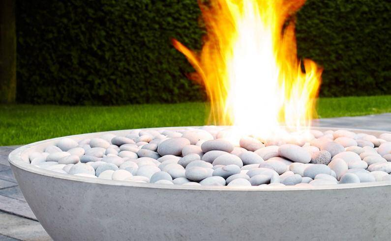refinement with fire pits