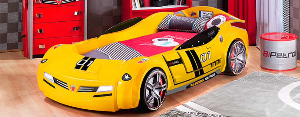 Racing car beds for children room