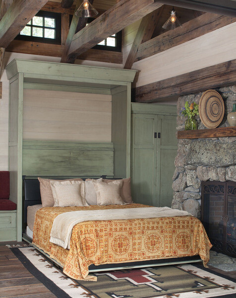 builtin bed - mountain cottage