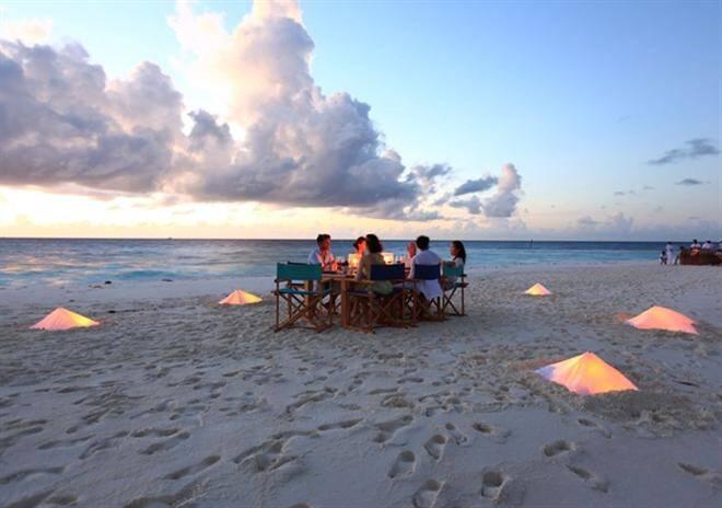 sandbank dining maldives