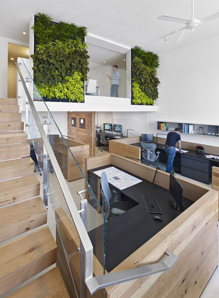 An eco-friendly design and a fresh look in the offices Jones Haydu (14)