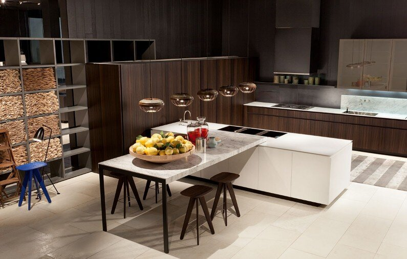 Poliform Kitchen Design. Spacious kitchens with modern design from Poliform Bright and spacious