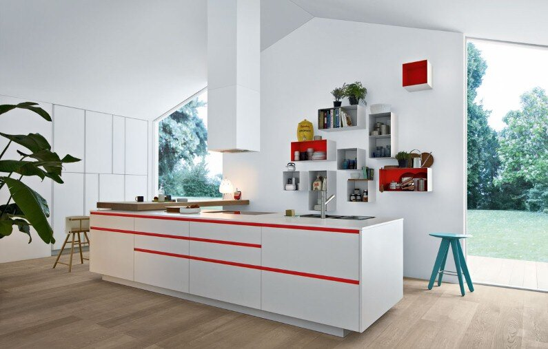 Kitchens with modern design from Poliform