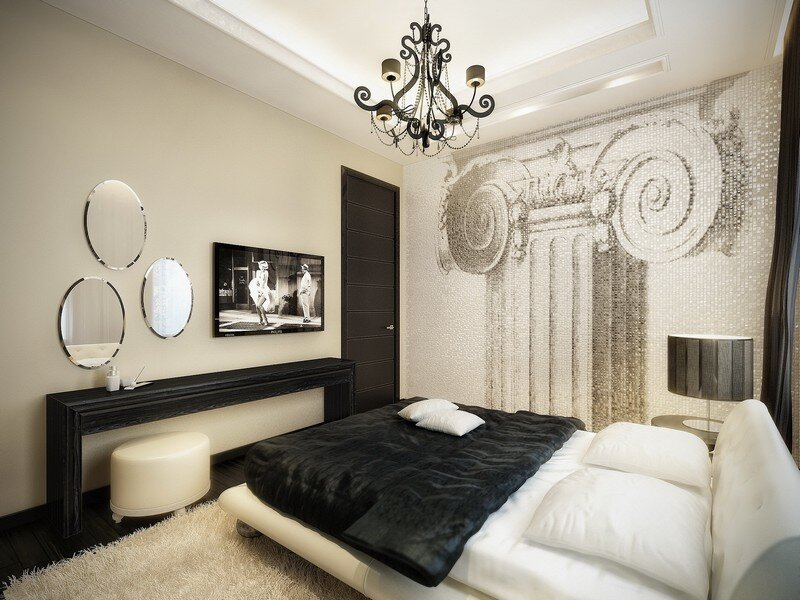 Luxurious apartment with Hollywood inspired decorations