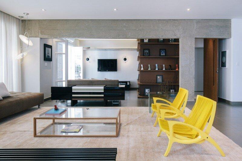 The apartment modernized according to the conception of Flavio Castro