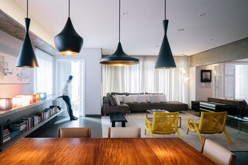 Apartment modernized according to the conception of Flavio Castro