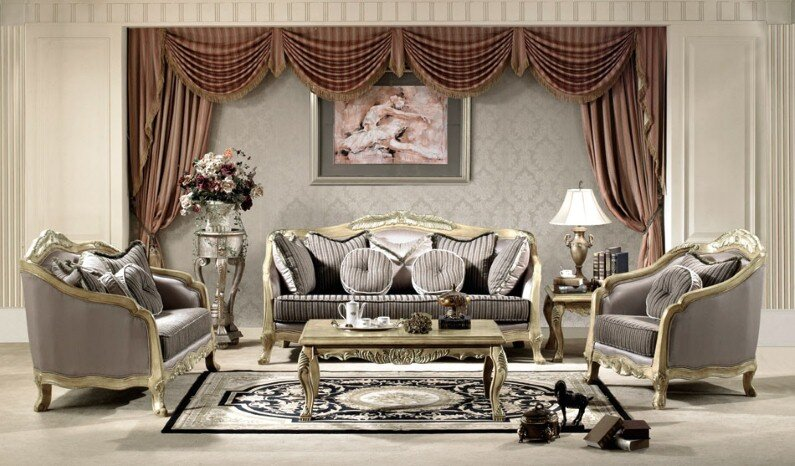 A beautiful selection of 15 living rooms, decorated in classic style (17)