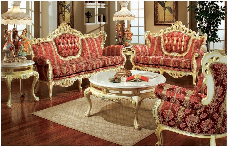 A beautiful selection of 15 living rooms, decorated in classic style (19)