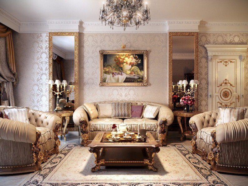 A beautiful selection of 15 living rooms, decorated in classic style (7)