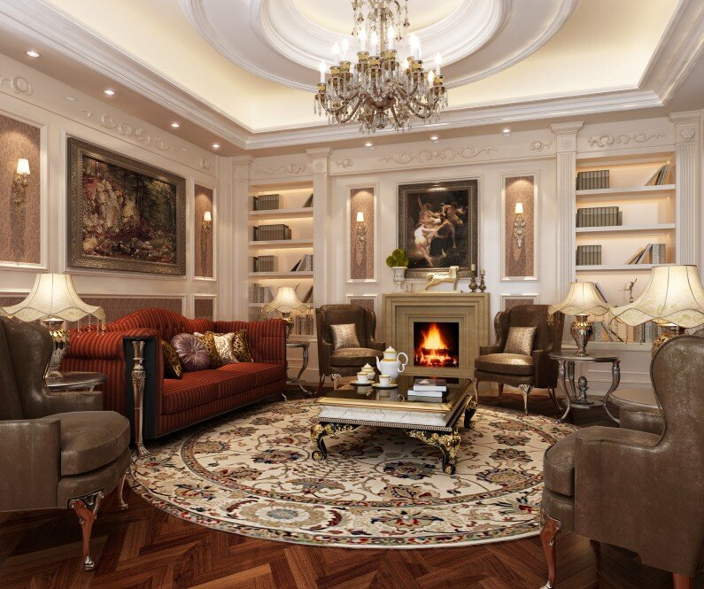 A beautiful selection of 15 living rooms, decorated in classic style (9)