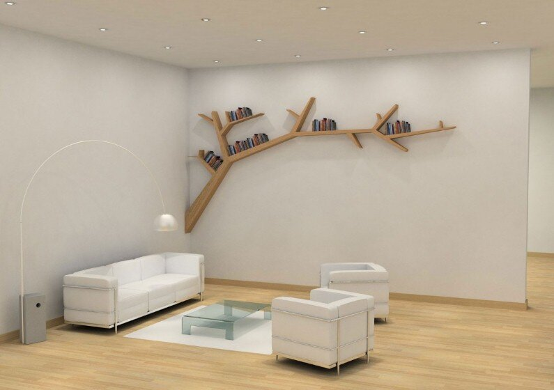 Olivier Dolle - Tree Branch Library - a simple, beautiful and poetic design  (6)
