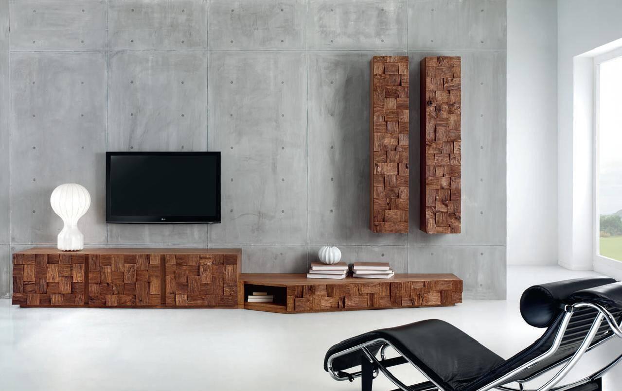 Collection of oak furniture by domus arte - Meuble tv bois brut ...