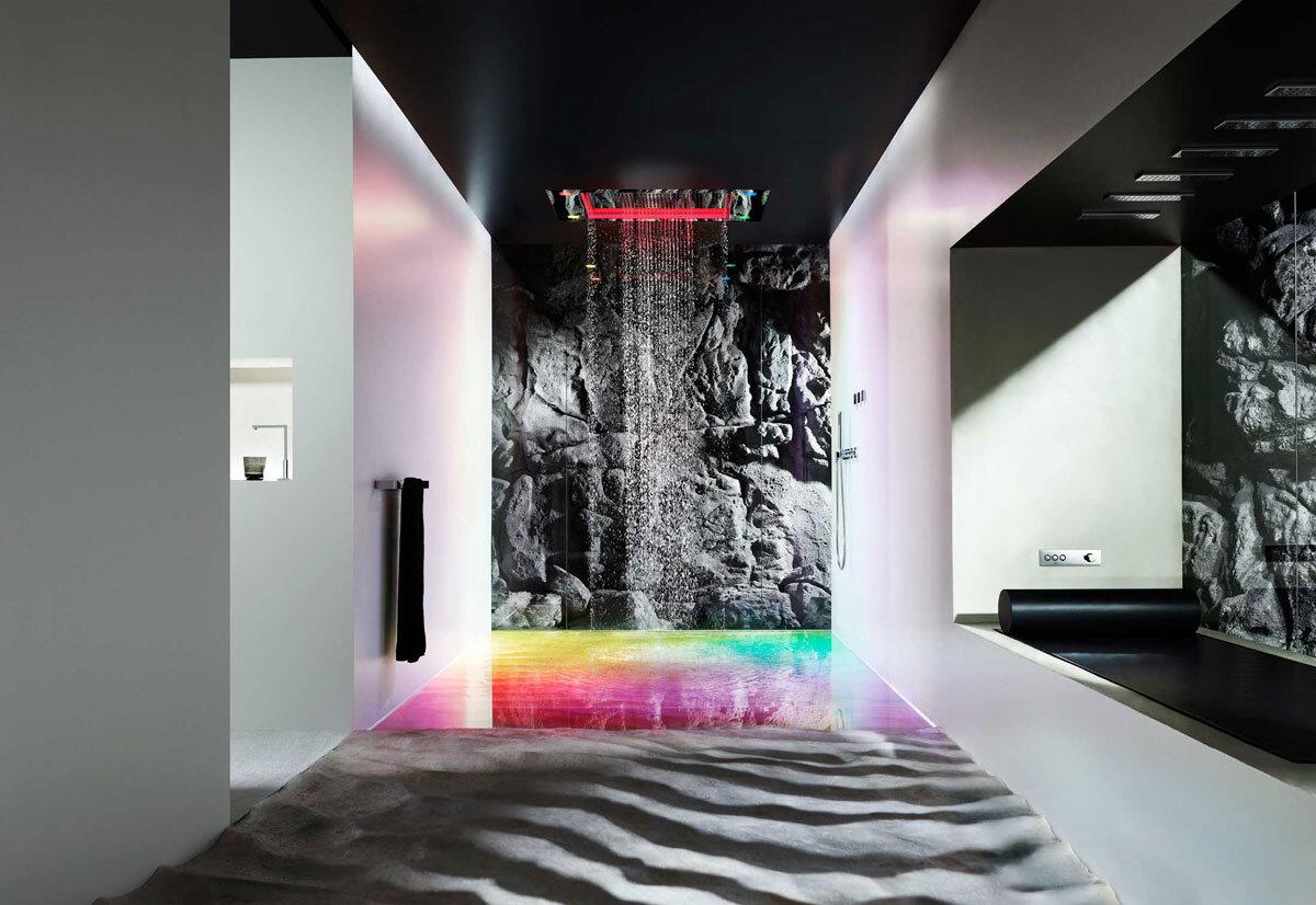 dornbracht sensory sky transform the shower into an unique experience. Black Bedroom Furniture Sets. Home Design Ideas