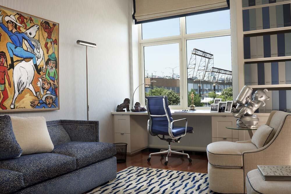 Geoffrey Bradfield design for Oliver Stone's apartment