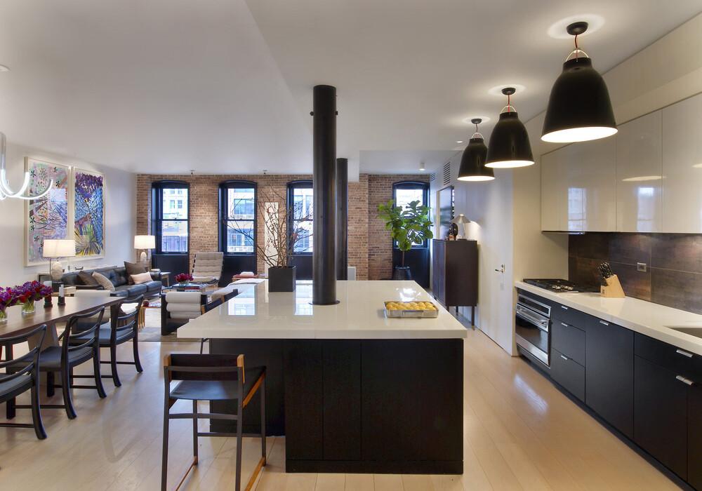 Loft Apartment With Attractive Interior Design In New