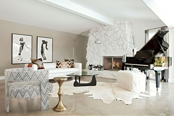 Modern living room with rustic accents (10)