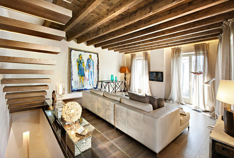 Modern living room with rustic accents several proposals - Casas rusticas decoracion interiores ...