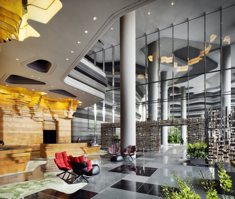 Parkroyal on Pickering Hotel from Singapore, by WOHA Architects (2)
