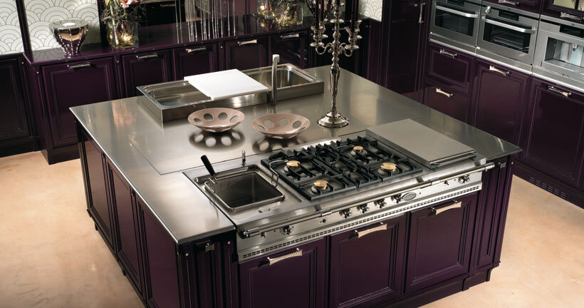 The kitchen in purple - contemporary luxury and traditional design by Brummel (2)