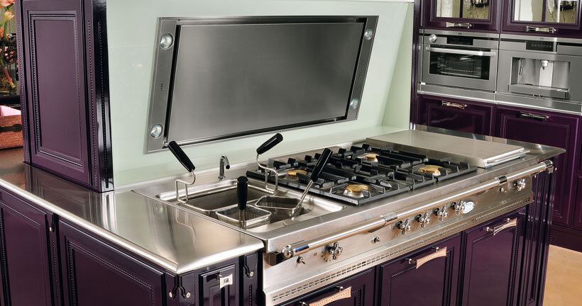 purple kitchen - contemporary luxury and traditional design by Brummel (4)