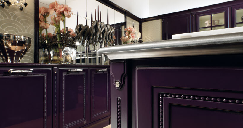 The kitchen in purple - contemporary luxury and traditional design by Brummel (5)