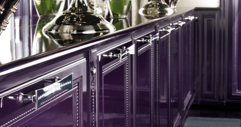The kitchen in purple - contemporary luxury and traditional design by Brummel (6)