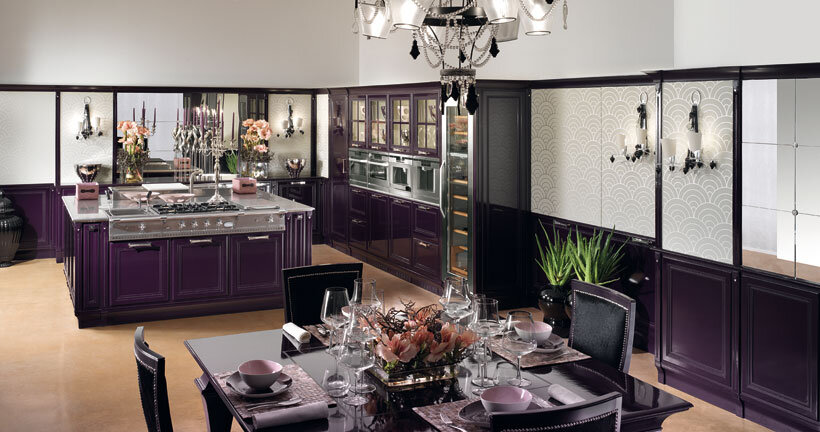 The kitchen in purple - contemporary luxury and traditional design by Brummel