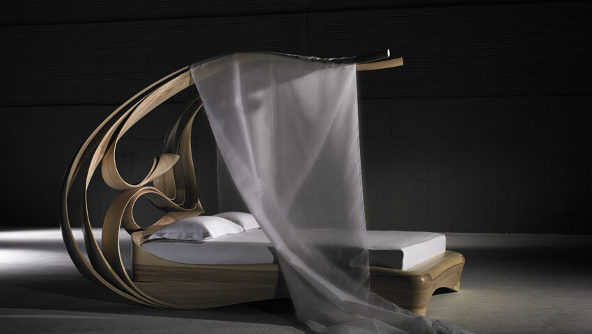 Works of art made by Joseph Walsh. Enignum Canopy Bed (4)