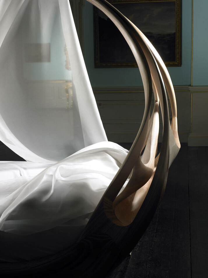 Works of art made by Joseph Walsh. Enignum Canopy Bed (5)