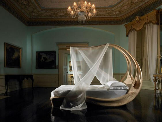 Works of art made by Joseph Walsh. Enignum Canopy Bed
