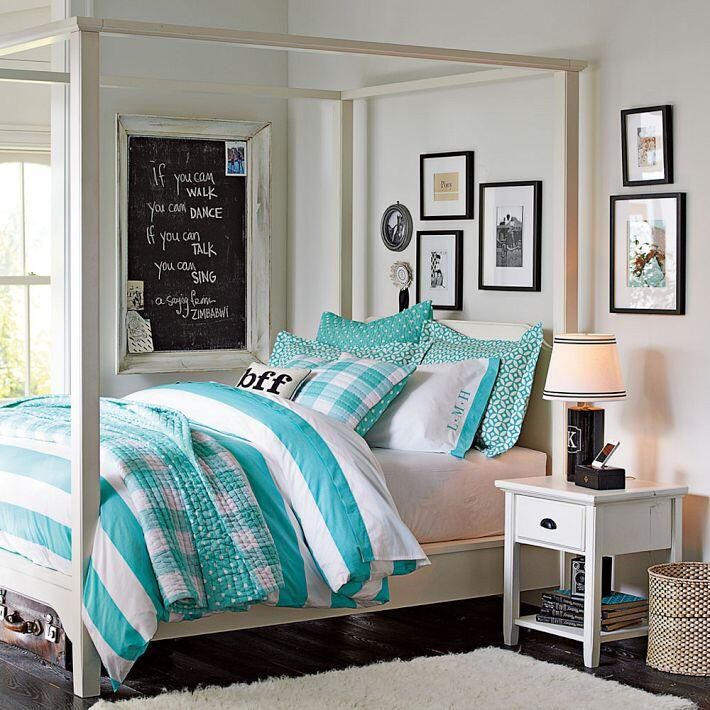 Bedroom ideas - canopy bed with contemporary design PB Teen (15)
