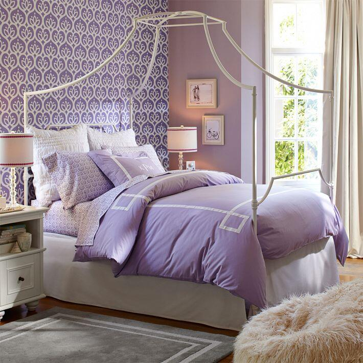 Bedroom ideas - canopy bed with contemporary design PB Teen (8)