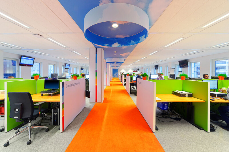 NTI offices - vitality and vivid tones, by Liong Lie Architects