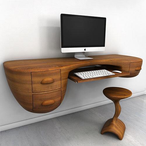 Swerve Desk - excellent woodworking technique by Victor Klassen (1)