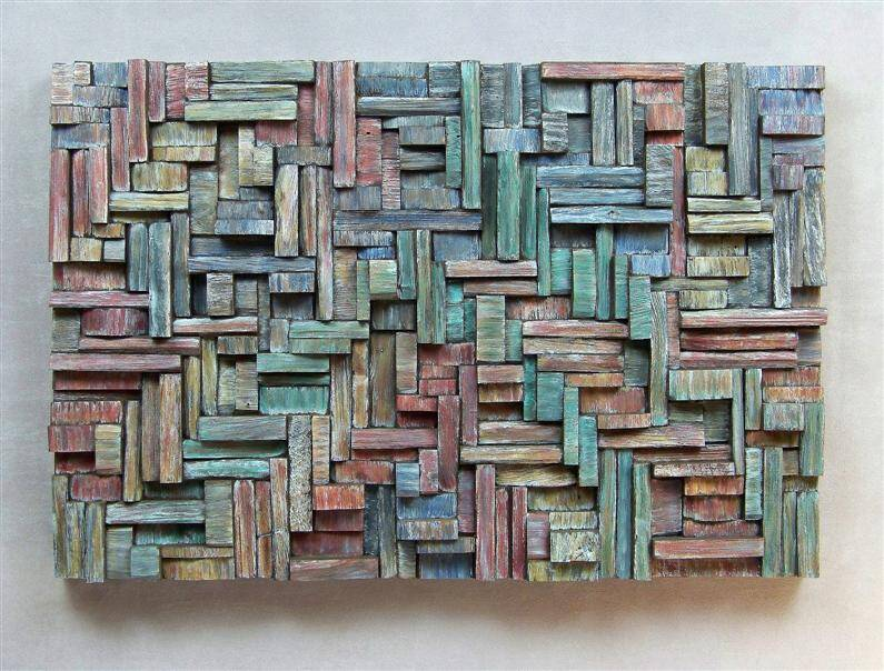Contemporary art eccentricity of wood by olga oreshyna - Murales de madera ...