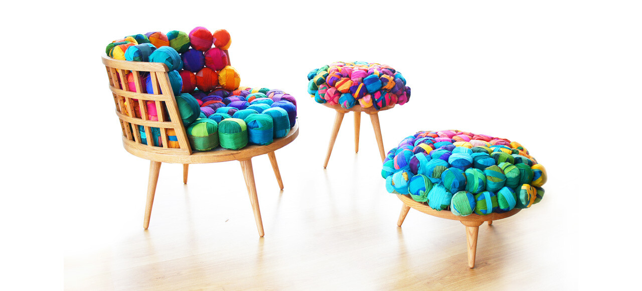 Eco Furniture From Recycled Silk Remnants By Meb Rure