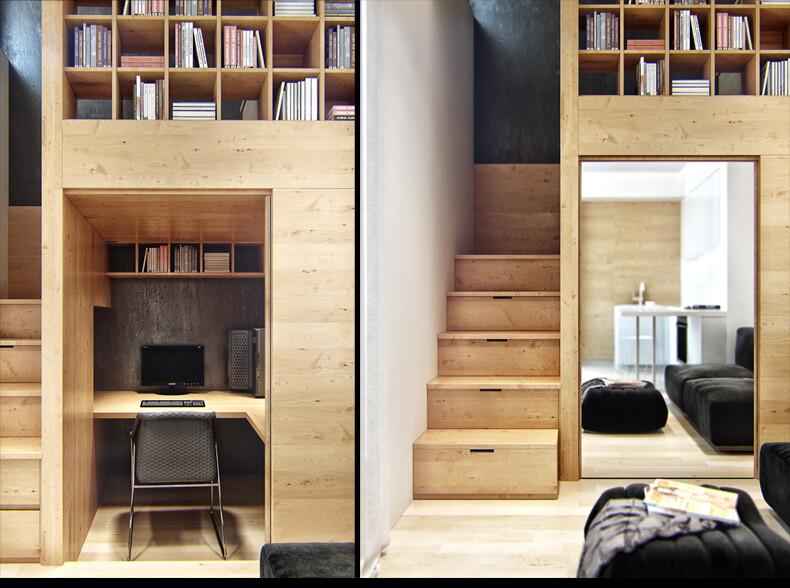 Small-apartment in Odessa great work of the architect Denis Svirid (10)