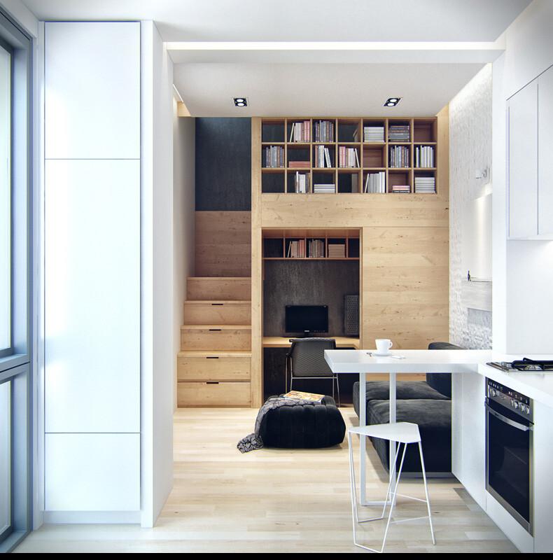 Small apartment in Odessa great work of the architect Denis Svirid (11)