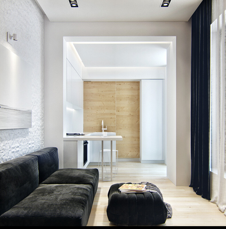 Small apartment in Odessa great work of the architect Denis Svirid (7)