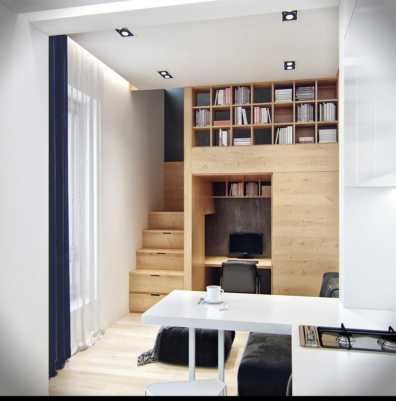 Small-apartment in Odessa great work of the architect Denis Svirid (8)