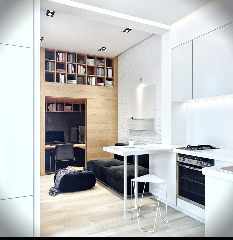 Small-apartment in Odessa great work of the architect Denis Svirid (9)