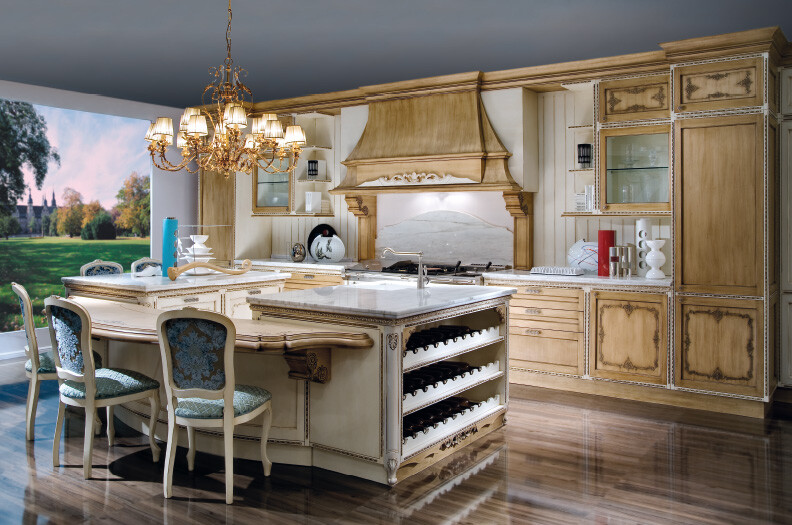 Fenice kitchen inspired by the baroque and venetian theater for Fams arredamenti