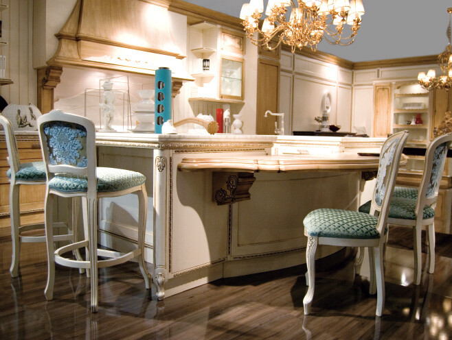 Kitchen inspired by the Baroque and Venetian theater (5)