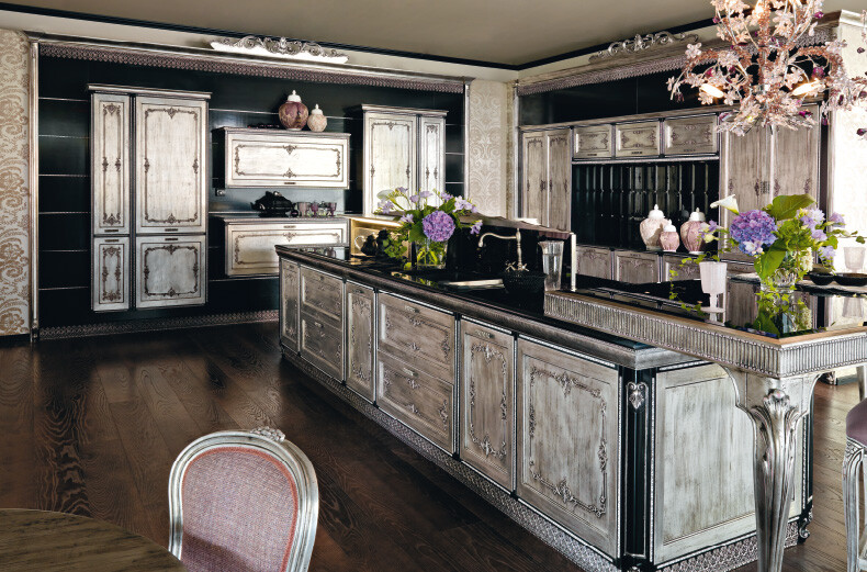 Fenice kitchen inspired by the baroque and venetian theater - Commode style baroque pas cher ...