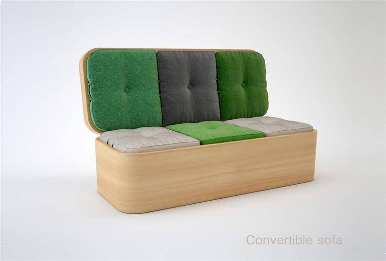 multifunctional furniture convertible sofa by julia kononenko. Black Bedroom Furniture Sets. Home Design Ideas