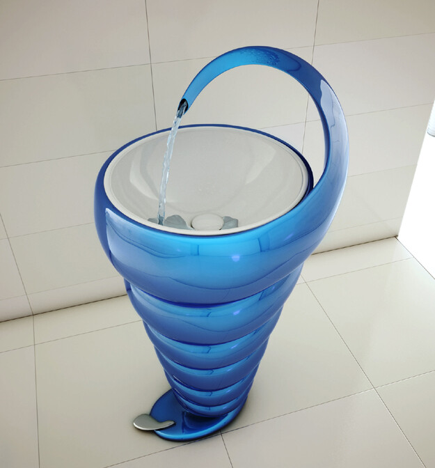 Spiral Washbasin – interesting and elegant design by Naser Nasiri & Taher Nasiri