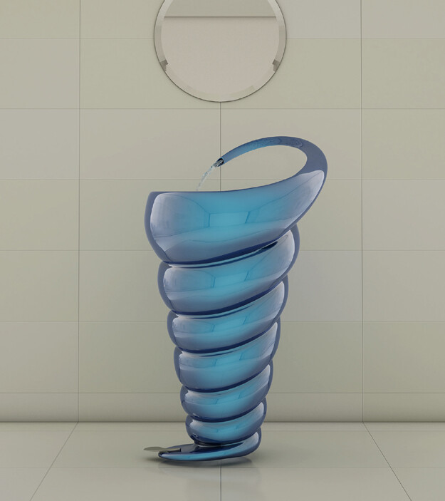 Spiral Washbasin - interesting and elegant design by Naser Nasiri & Taher Nasiri