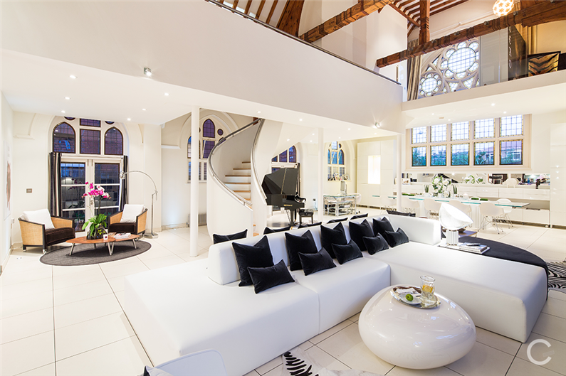 Luxury Residence Modern Interior Design In An Old Church