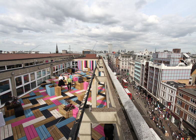 Spectacular roof–terrace for London College of Fashion